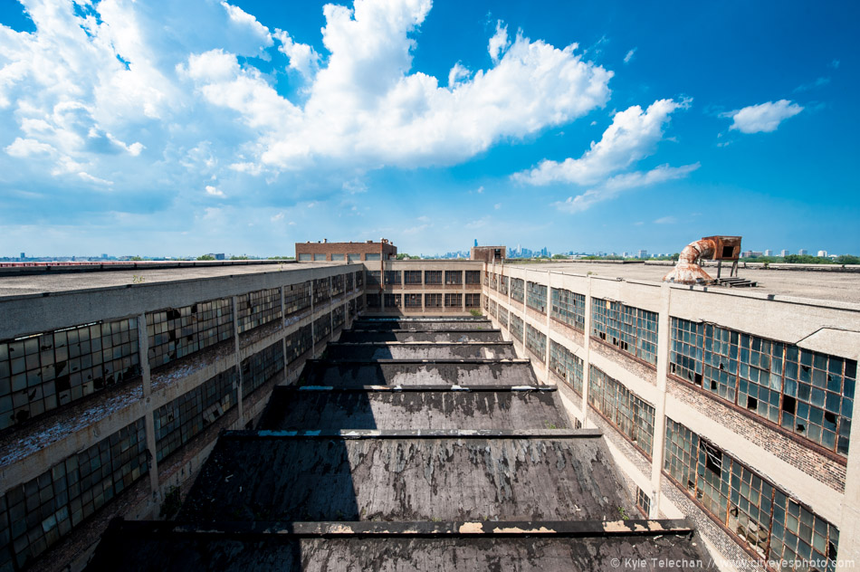 Blue Skies over the Abandoned Factory